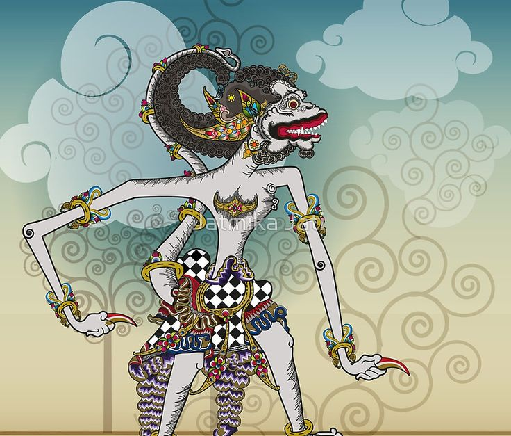 Modification of the puppet characters Hanuman white monkey in the story of the Ramayana