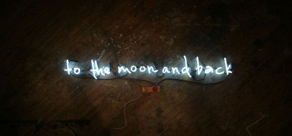 To The Moon And Back Neon Sign by MarcusConradPoston on Etsy