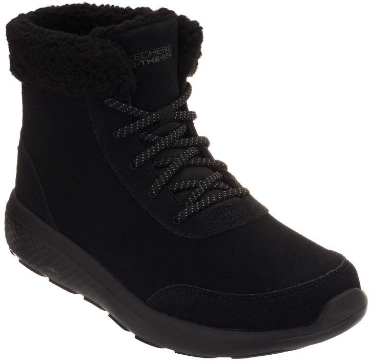 Skechers On-the-GO Lace-Up Suede Boots