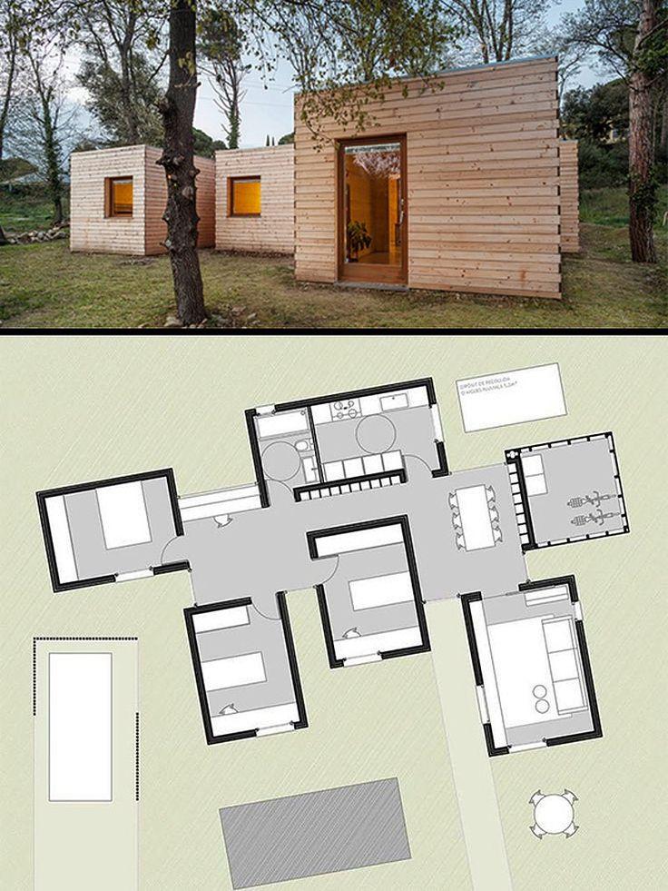 1000 ideas sobre casas prefabricadas madera en pinterest - Construccion de casa prefabricadas ...