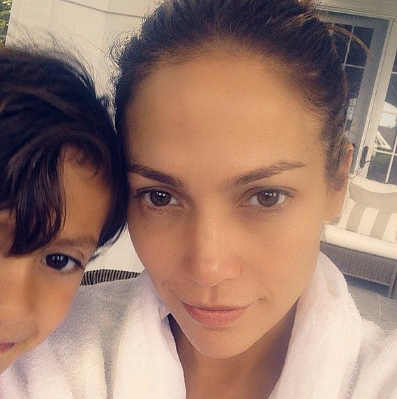 Jennifer Lopez shared the sweetest selfie with her son — how cute are they?!