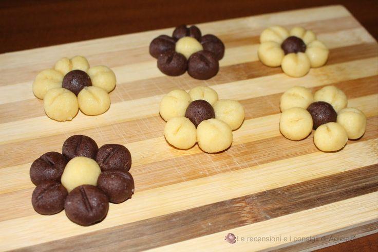 Idea Intreccio pasta frolla: biscotti bicolore