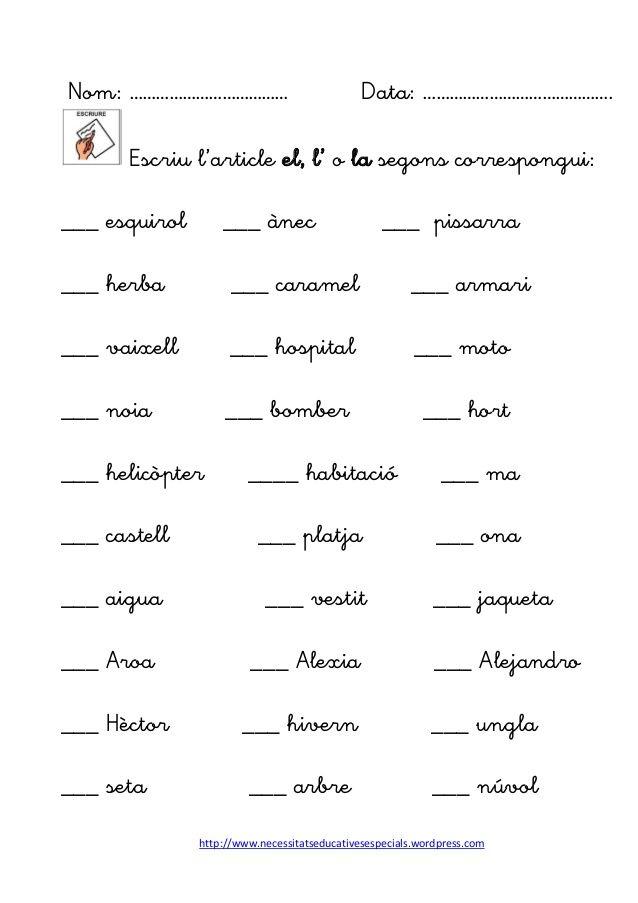 M s de 20 ideas incre bles sobre articulo gramatica en for En y frances ejercicios