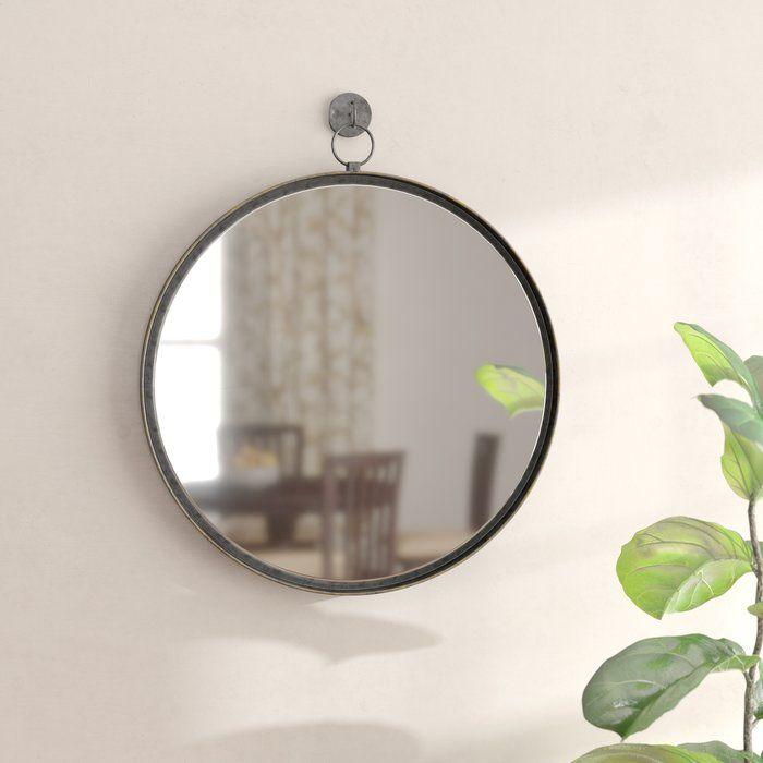 Della Suspended Round Wall Mirror Mirror Wall Round Wall Mirror Round Mirrors