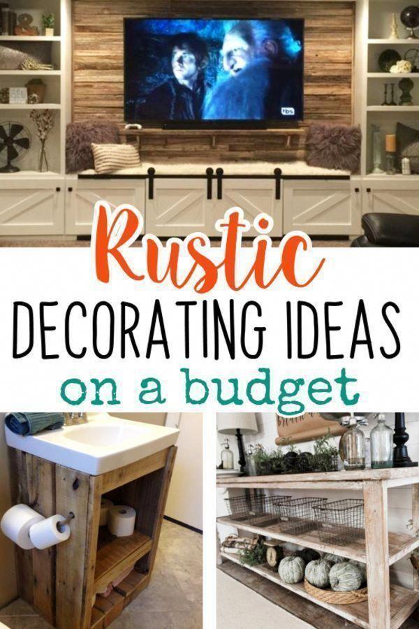 Diy Rustic Decorating Ideas On A Budget Rustic Living Room Decor
