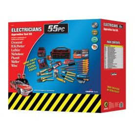 Crescent Electricians 55 Piece Apprentice Tool Kit #4cabling #toolkit #crescenttools