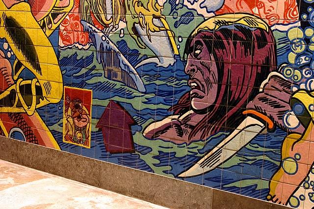 Tiles in Oriente metro station (Lisbon) - Azulejos na estação de metro do Oriente (Lisboa)