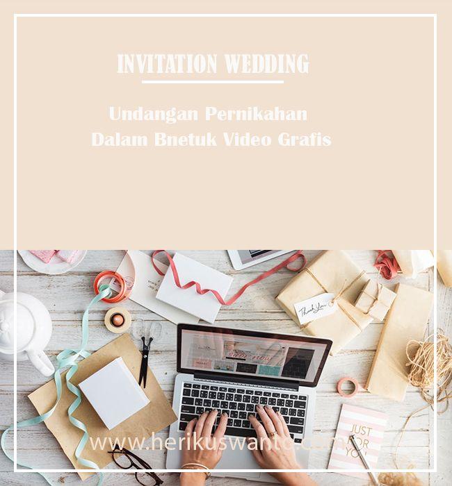 Undanga pernikahan dalam bentuk video grafis