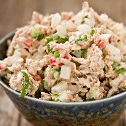 Looking for a tasty, simple lunch recipe? This Veggie Tuna Salad uses light canned tuna (instead of albacore white) to reduce the amount of mercury. Just mash with light mayo or nonfat Greek yogurt and any preferred seasonings....plus toss in an assortment of chopped veggies like carrots, celery, bell pepper, and green onions. So easy, but filling and substantial!