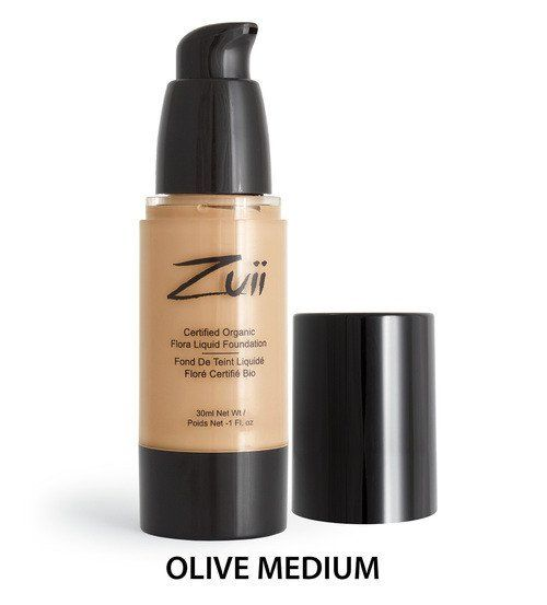 Certified Organic Flora Liquid Foundation - Olive Medium