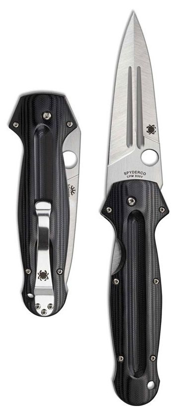 Spyderco Schempp EuroEdge Liner Lock EDC Knife Blade Black G-10