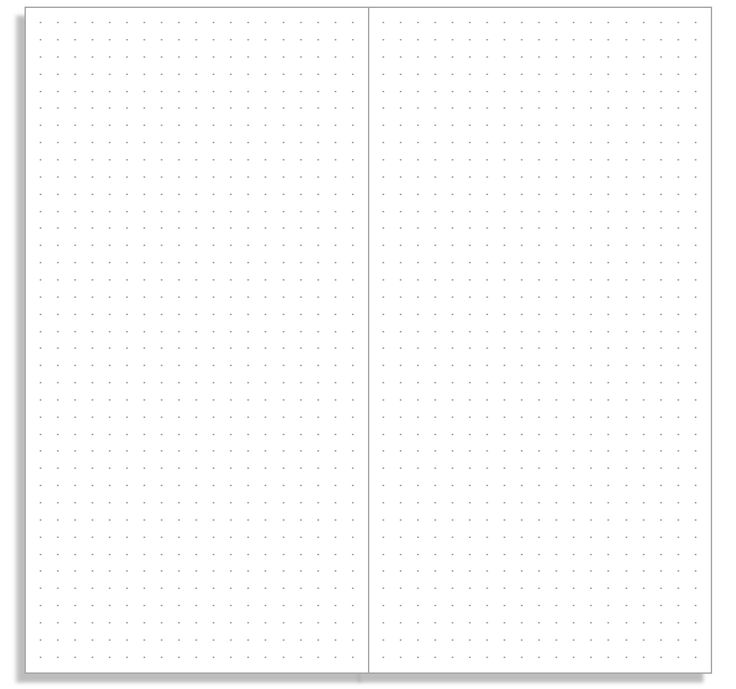 My Life All in One Place: Print a basic dot grid notebook insert for your Midori Traveler's Notebook