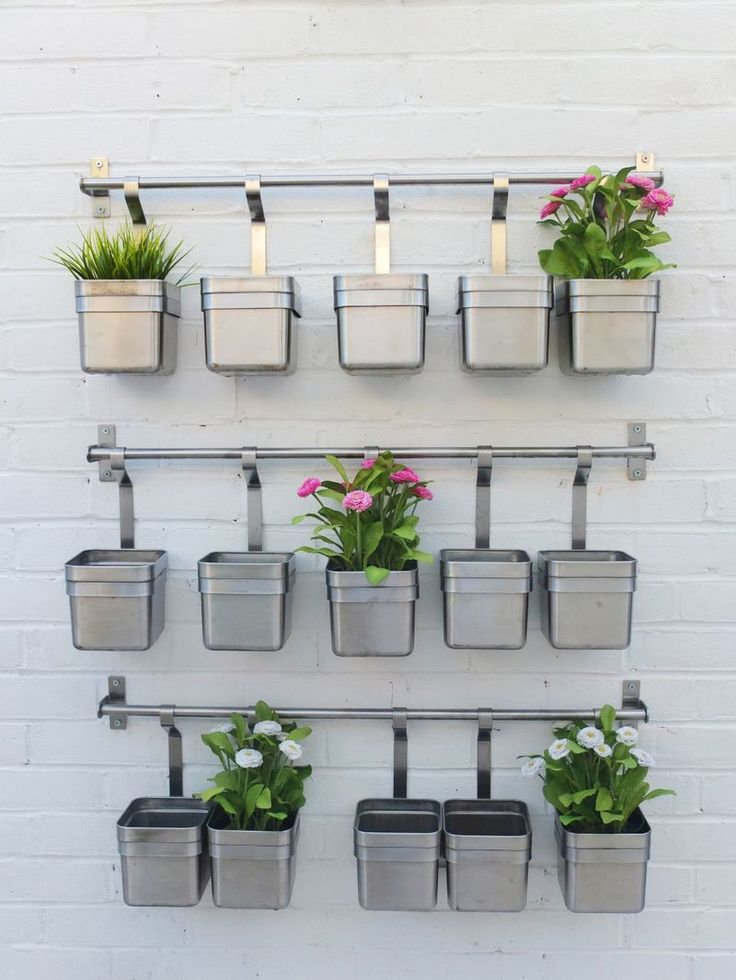 Garden herb wall outdoor living pinterest herb wall for Kitchen herb garden