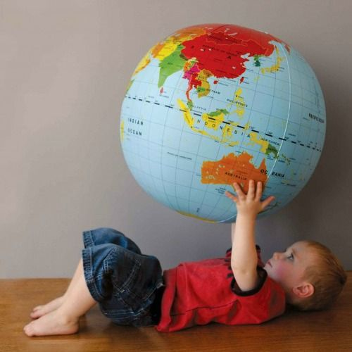 Blow Up World Globe #limetreekids