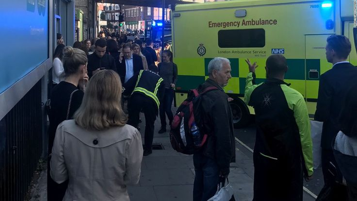 A major manhunt is under way after an improvised explosive device exploded on a London Underground train, injuring 29 people in what police have called a terrorist incident.