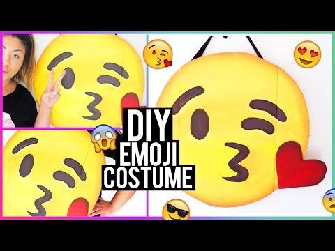 DIY Emoji Halloween Costume! - YouTube