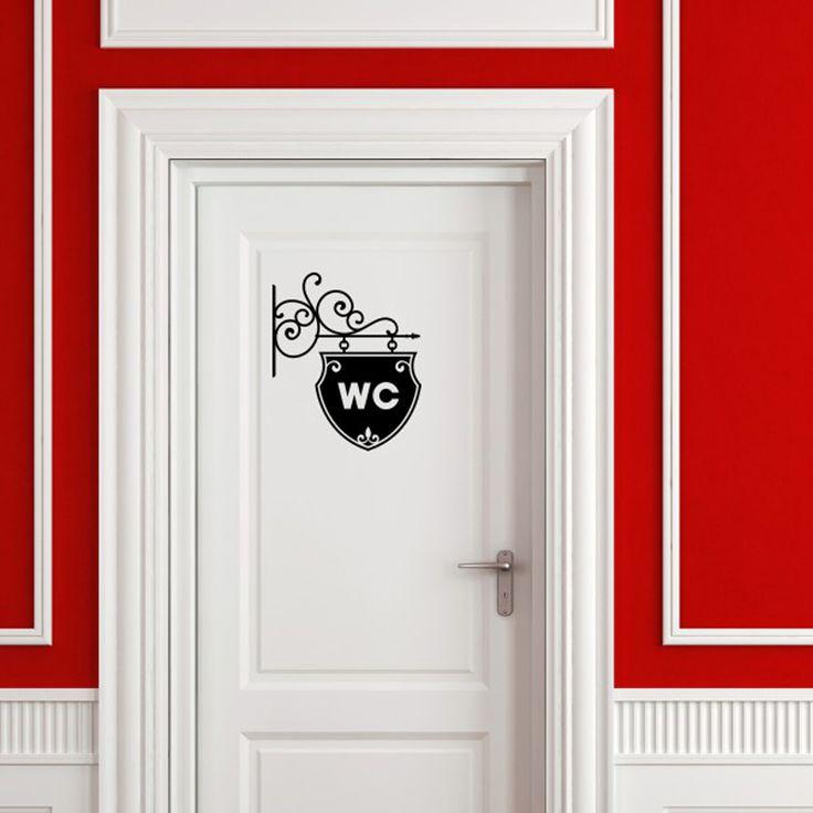 Black English creative DIY wall stickers toilet stickers  Home Decoration wallpaper  JG1804
