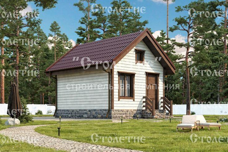 Проект дома ДБ-01 размером 4 на 5 метра в цветом решении Лето