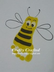 Bumblebee Footprint Craft�bee cute 2get an old w