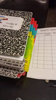 Daily 5 Notebook Ideas-- love the organization of these!