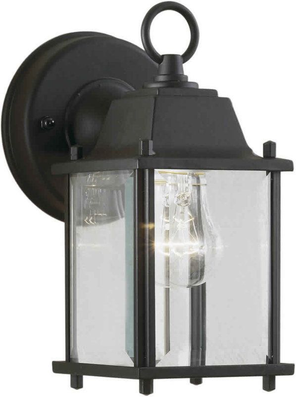 Forte Lighting 1705-01 Craftsman / Mission Outdoor Wall Sconce from the Exterior Lighting Collection