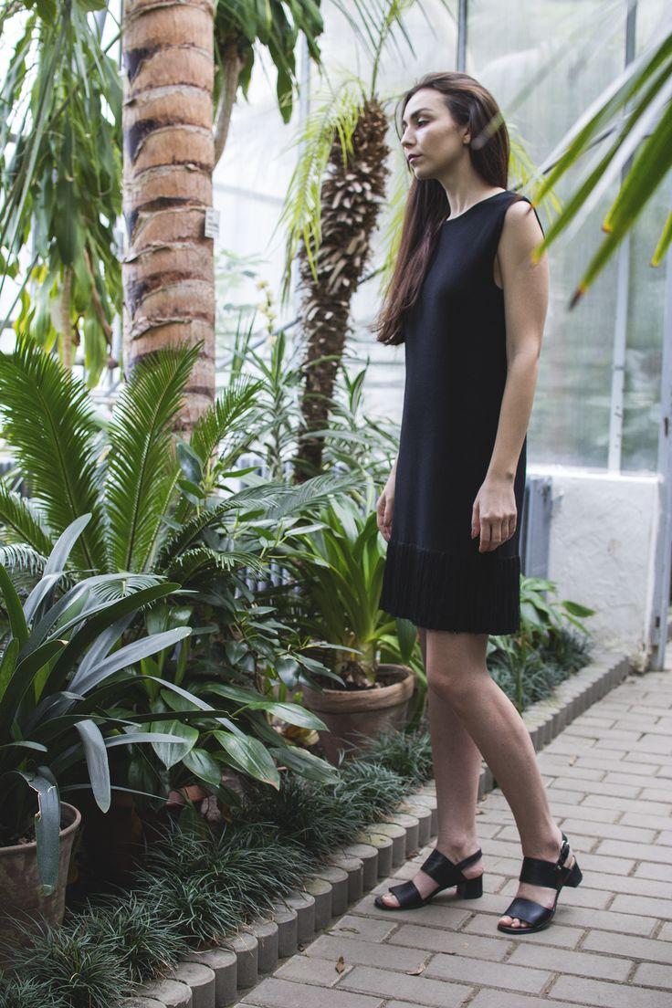 BLACK FRINGED DRESS