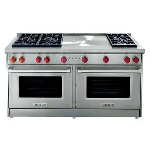6 dualstacked sealed burners btu french top two convection ovens enhanced interior views castiron burner grates spark ignition system for each