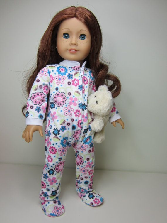 39 Best Images About American Girl Doll Pjs Onsies On