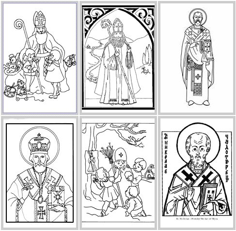 Saint Nicholas Day Coloring Page | St. Nicholas Crafts for Kids
