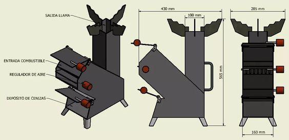 cocina cohete - rocket stove - mechero