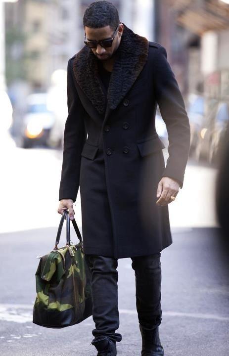 men's street fashion fur coat