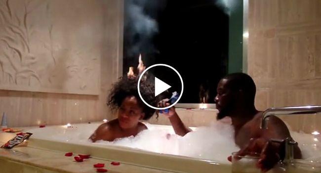 Banho Romântico Fica Arruinado Depois De Mulher Acidentalmente Incendiar o Próprio Cabelo