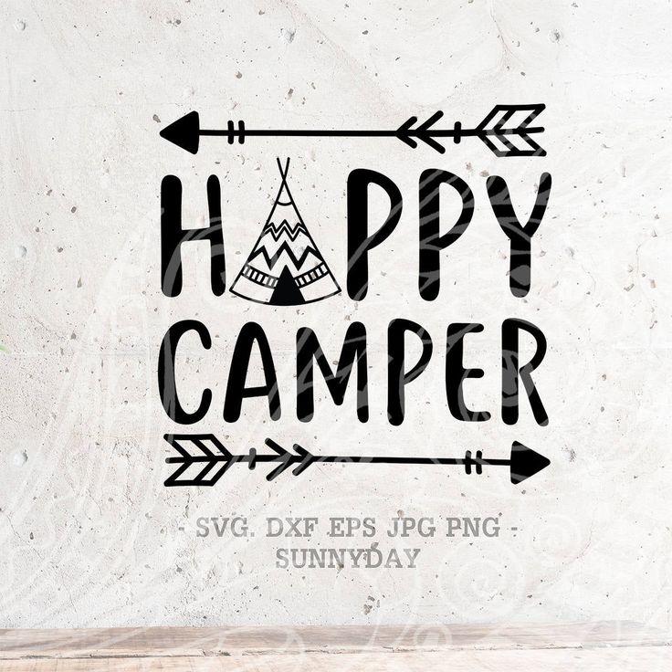 Happy Camper SVG File Camper DXF Silhouette Print Vinyl