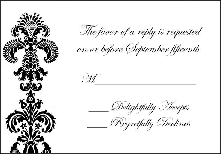 Responding To A Wedding Invitation: Wording For Wedding Response Cards