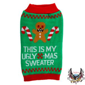 Hahaha I need this for my pups!! Bret Michaels Pets Rock™ Gingerbread Ugly Sweater |