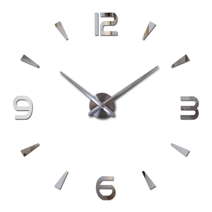 2016 New Vintage Wall Clock Modern Design Large Diy Acrylic Clocks Horloge Murale Quartz Watch 3d Stickers Brief Living Room
