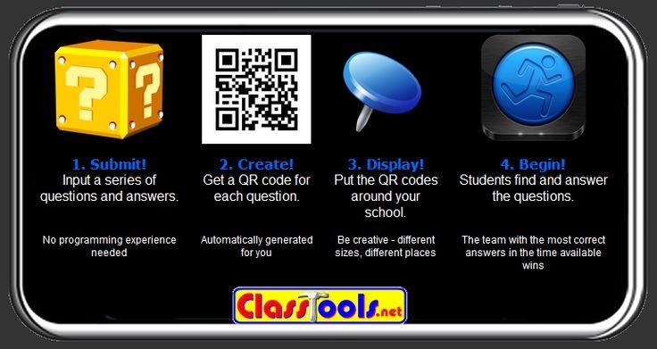 Free Technology for Teachers: QR Code Treasure Hunt Generator