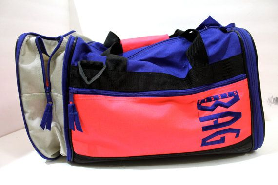 Vintage Neon Collapsible Sports Duffle Bag by VintageWestCoast, $51.00 /// www.kennycolors.com