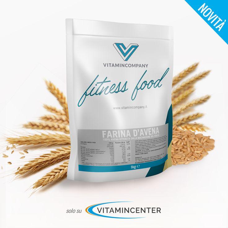 Scopri la nuova linea Fitness Food di Vitamincompany! - Farina d'avena. #fitness #food #farina #avena #cereali #sport #allenamento #palestra #fitness #bodybuilding #muscoli