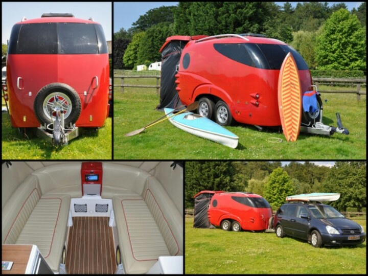 The wheelchair accessible trailer interior is accessed via a one piece clam-shell style rear & 17 best Holiday Fun images on Pinterest | Holiday fun Caravan and ...