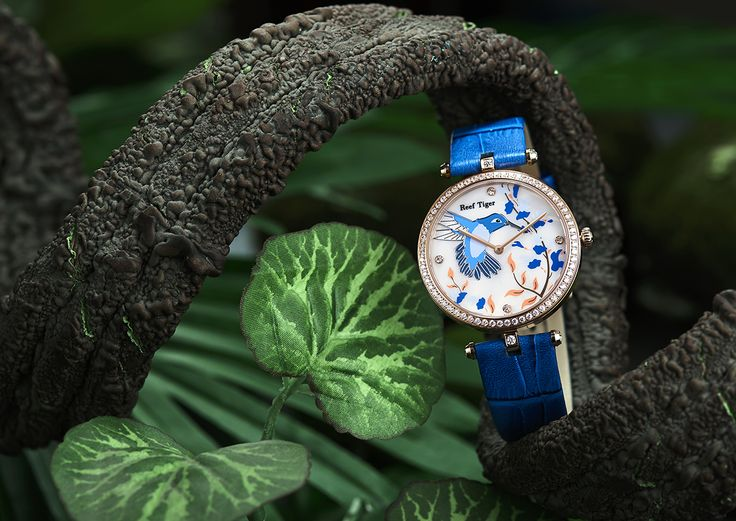 New season styles are on the way and we're struggling to contain our excitement! Here's  Florilege II New Arrivals  White mop dial with Bird, flower pattern, diamond markers.Blue/Pink/Black genuine calfskin leather strap with insignia tang buckle.