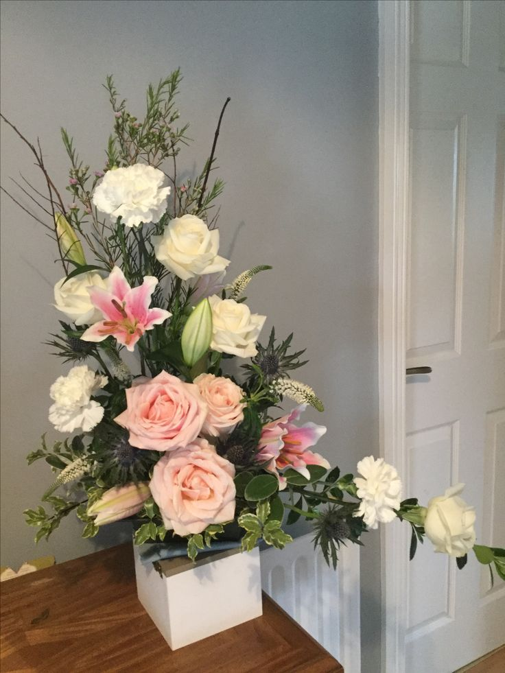Avalanche roses, carnations and lilies