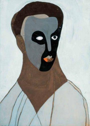 Self-Portrait in a Mask, 1935 - Vajda Lajos