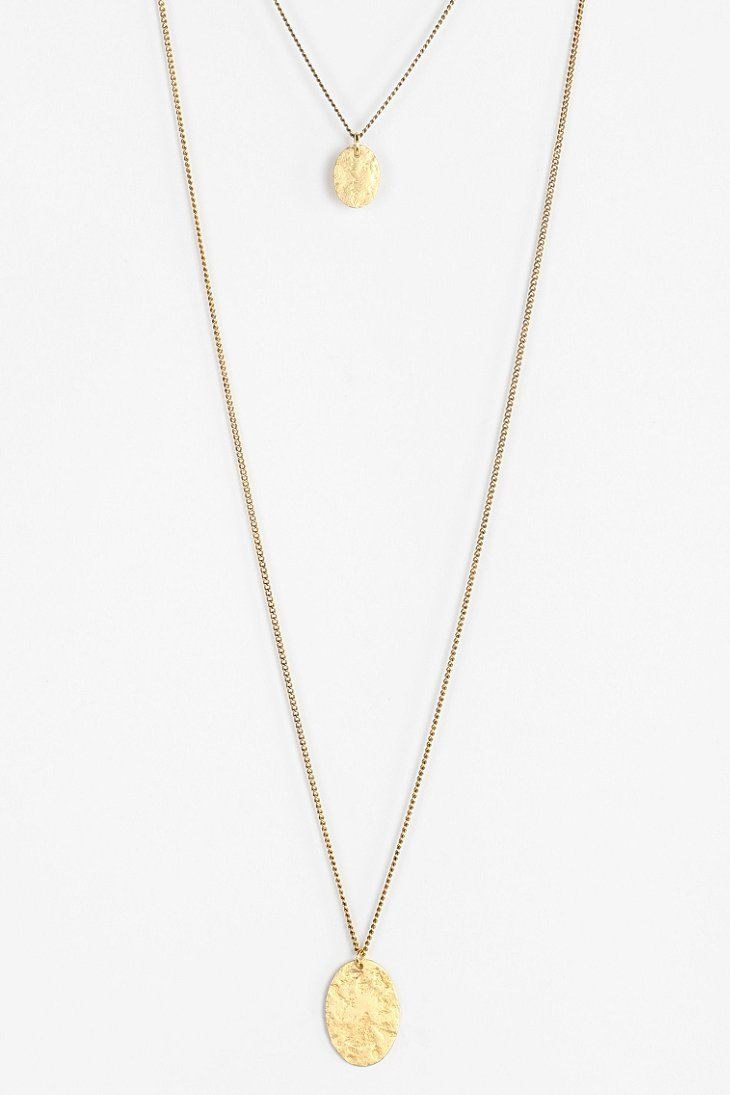 Hammered High/Low Necklace (PROM JEWELRY)