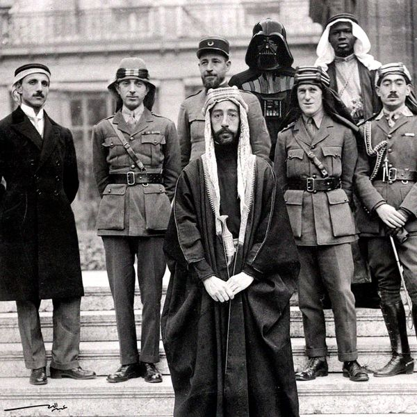 King Faisal, Lawrence of Arabia, and Darth Vader