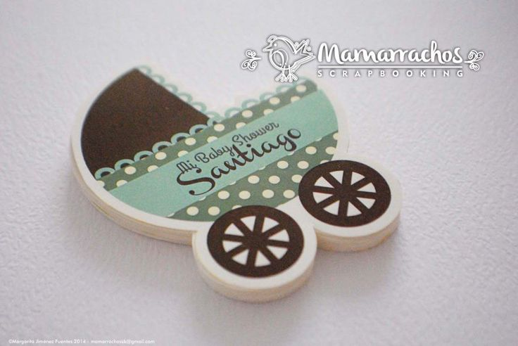 Baby Shower - Carriola Verde