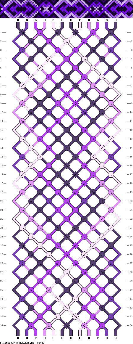 Friendship bracelet pattern 89047 new