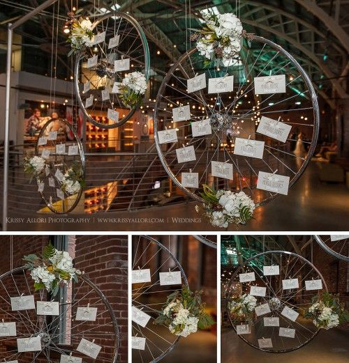 Bridal Bliss Lucky in Love Giveaway: Pure Portland with a hanging bicycle to hold the escort cards
