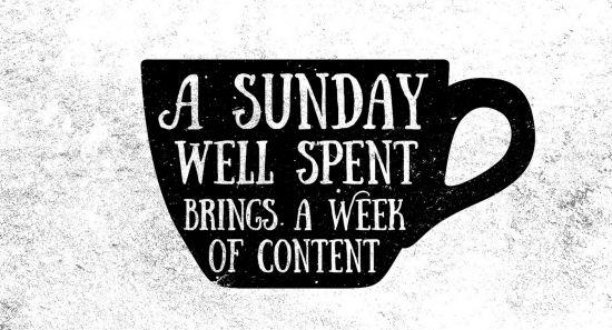 Coffee : a Sunday well spent