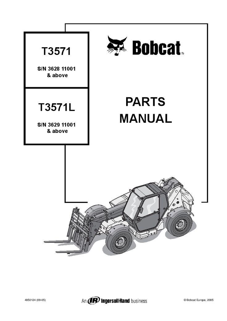 BOBCAT TELEHANDLER T3571-T3571L Parts Manual PDF Download
